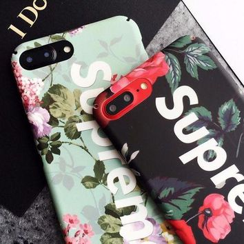 DCCKR2 Supreme Small fresh flowers frosted phone case shell  for iphone 6/6s,iphone 6p/ 6splus,iphone 7, iphone7plus