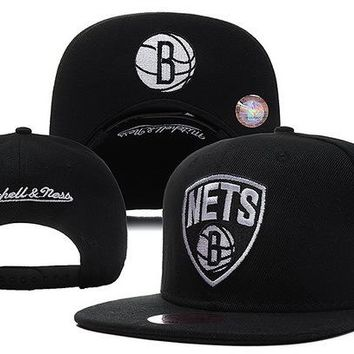 Brooklyn Nets Nba Cap Snapback Hat - Ready Stock