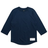 FRENCH TERRY 3/4 SLEEVE T-SHIRT – NAVY