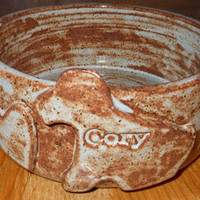 Personalized Dog Bowl by Drippingglazes on Etsy