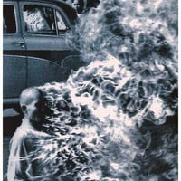 Rage Against the Machine Burning Monk Poster 12x18