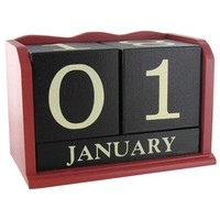 Red, Black & White Wood Calendar Blocks | Shop Hobby Lobby