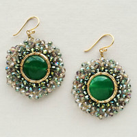 Emerald Quartz Earrings - Handcrafted