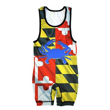 Ripped Crab Maryland Flag / Wrestling Singlet (1-2 Week Delivery)