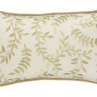 "Palazzo Vine Embroidered Pillow - 20"" x 12"""