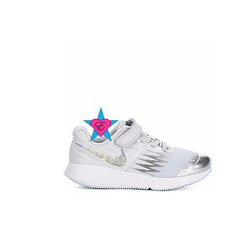 Bedazzled Silver Nike Girls Star Runner | 10.5-3