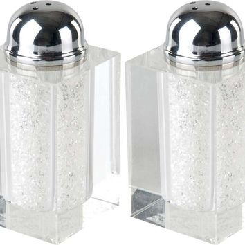 Salt & Pepper Set Crystal w/Sparkling