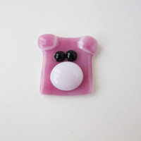 Pig, Piglet Made of Fused Glass, Keychain, Bookmark, Magnet, Brooch, Gift for Animal Lover, Design A Pig