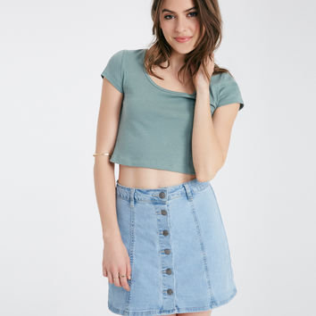 Strappy Back Cropped Tee | Wet Seal