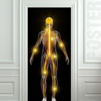 Door STICKER skeleton medical spectre ghost phanto