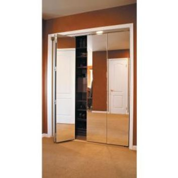 Impact Plus, Beveled Edge Mirror Solid Core Chrome MDF Interior Bi-fold Closet Door, BMP3423068C at The Home Depot - Mobile