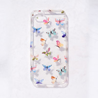 Clear Watercolor Butterfly  iPhone 5C/S/5 case