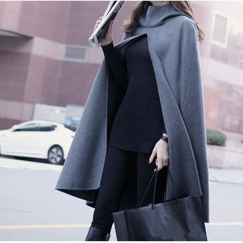 *Online Exclusive* Hooded Cape