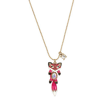 MINI CRITTERS FOX PENDANT: Betsey Johnson