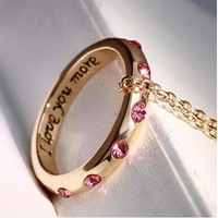 I love mom silver / gold Pendant Necklaces Mother Day Jewelry