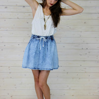 Acid Wash Mini Skirt