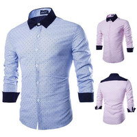 *$10 Shirt* New Strip Slim Fit Shirt