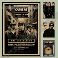 Vintage posters OASIS rock band singer poster comic kraft paper painting stickers hanging picture draw painting