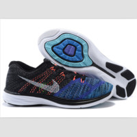 NIKE woven casual shoes light running shoes Blue-gray orange