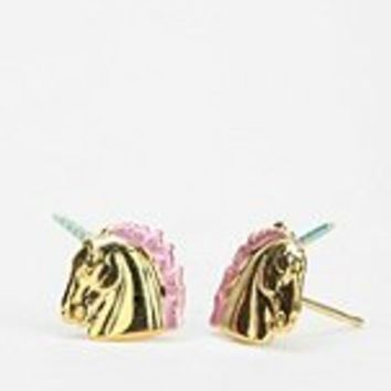 Diament Jewelry For Urban Renewal Painted Unicorn Stud Earring