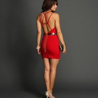 Sale-red Show Off Bodycon Dress