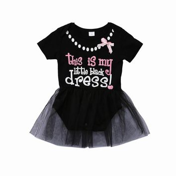 Cute Newborn Baby Girl Summer Princess Dress Kids Girls Bowknot Lace Floral Tutu Bodysuit Dress Christmas Party Formal Dresses