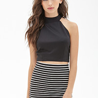FOREVER 21 Ribbed Stripe Skirt