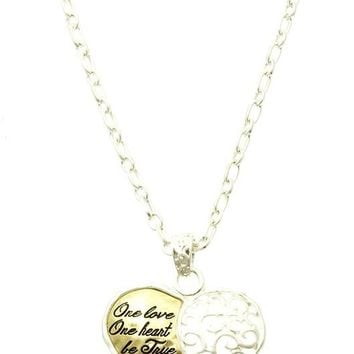 Gold Filigree Heart Necklace