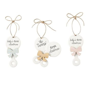 Baby's First Christmas Ornament (Assorted Styles)