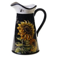 Certified International French Sunflowers Pitcher