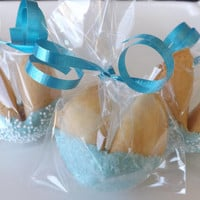 25 Custom Fortune Cookies, Tiffany Blue, Origami Owl prizes, Baby Showers, Gender Reveal, Quinceanera, Sweet 16, Personalized
