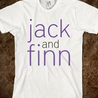 jack and finn names-Unisex White T-Shirt