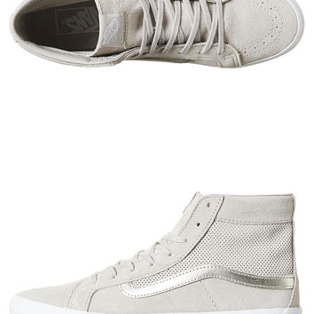 VANS SK8-HI SLIM SUEDE WOMENS SHOE - SILVER CLOUD