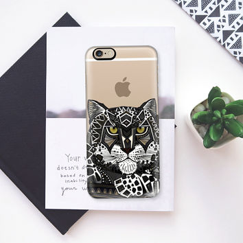 snow leopard transparent iPhone 6s case by Sharon Turner | Casetify