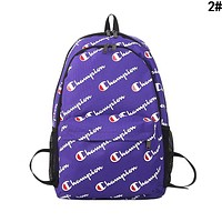 Champion Fashion Women Men Print Sport College Shoulder Bag Travel Bag School Backpack 2#