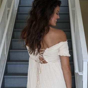 Forever Free Natural Maxi Dress