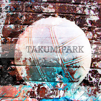 Urban Volleyball Wall Art Print. Gift Idea For Volleyball Player Or Coach, Sports Artwork, Photo Print, Soccer Decor, Sports Street Art