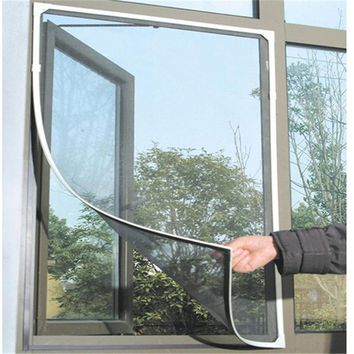DIY Insect Fly Mosquito Windows Net Mesh Screen Curtains Protector Flyscreen Worldwide 130*150cm AA