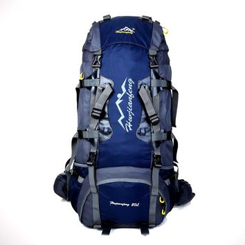 80L Internal Frame Backpack Hiking Backpacking Packs for Outdoor Travel Climbing Camping Mountaineering with Rain Cover