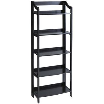Clifton Rubbed Black Tall Folding Shelf