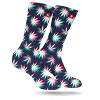 3D WEED LEAVES MARIJUANA STONER SOCKS