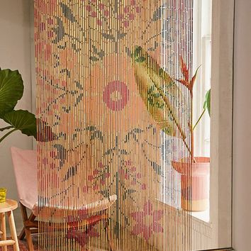 Rosa Floral Bamboo Beaded Curtain | Urban Outfitters