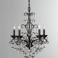 "French-Bronze ""Carrabelle"" Mini Chandelier - Horchow"