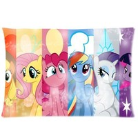 Cartoon My Little Pony Custom Rectangle Pillow Cases 20x30 (one side) Friendship is Magic Children/kids Favorite