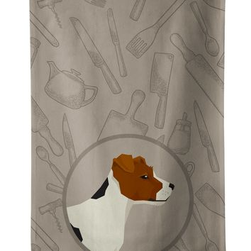 Jack Russell Terrier In the Kitchen Kitchen Towel CK2194KTWL