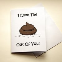 Naughty Love Card, Shit Out Of You, Dirty Card, Card For Boyfriend, Card For Girlfriend, Gift For Him, Card For Wife, Husband, Gift For Her