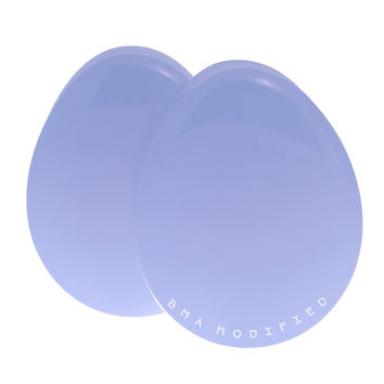 Lilac Purple Pastel Glass Teardrop Plugs (8mm-32mm)