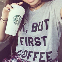 Short Sleeves Letter Print Scoop Slim Casual T-shirt