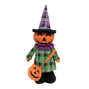 Halloween Decoration Halloween Doll Lovely Plush Doll Witch Extensible Pumpkin Cloth Beautiful