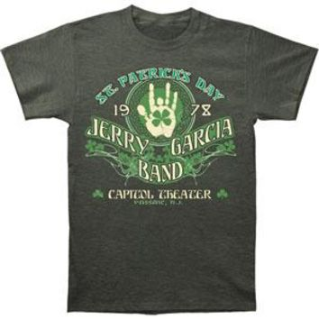 Jerry Garcia Men's  JGB St. Patrick's Day T-shirt Brown